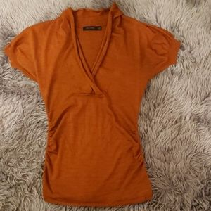 The Limited Merino Wool Blend Rust Top